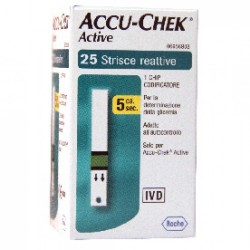 Roche Diabetes Care Italy Accu-chek Active Strips 25 Pezzi Glicemia