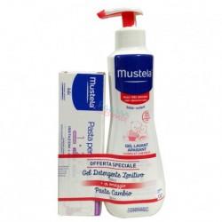 Mustela Detergente Lenitivo 300 ml + Pasta Cambio Omaggio 50 ml