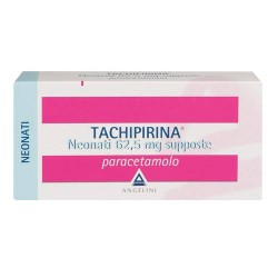 Angelini Tachipirina Antipiretico Neonati 10 Supposte 62,5 mg