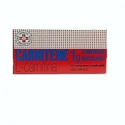 Alfasigma Carnitene 10 Compresse Masticabili 1 g per Deficit di Carnitina