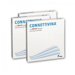 Connettivina 10 Garze 2 mg 10 cm x 10 cm per Lesioni Cutanee