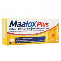 Sanofi Maalox Plus Antiacido 30 Compresse Masticabili