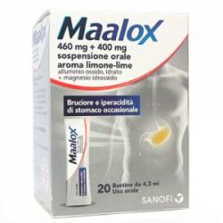 Sanofi Maalox Soluzione Orale Sosp 20 Buste 4,3 Ml 460 Mg + 400 Mg