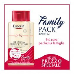 Eucerin Family Pack Detergente Gel Doccia Dermoprotettivo pH5 2 x 200 ml