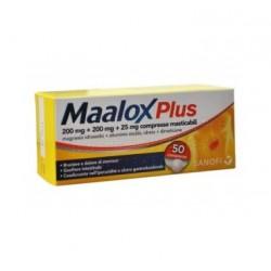 Sanofi Maalox Plus Antiacido 50 Compresse Masticabili