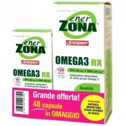 Enervit Enerzona Omega 3 Rx 120+48 Capsule Offerta Convenienza Integratore per Colesterolo