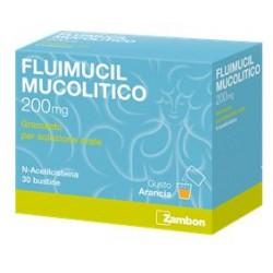 Zambon Fluimucil Mucolitico 30 Buste Granulari 200 Mg