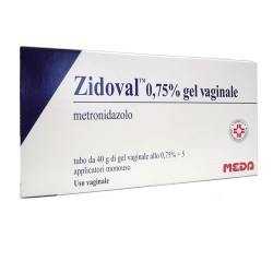 Meda Zidoval Gel Vaginale 40 g 0,75% + 5 Applicatori