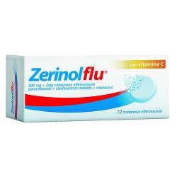Sanofi Zerinolflu 12 compresse effervescenti 300 mg + 2 mg + 250 mg