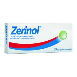 Sanofi Zerinol 20 compresse rivestite 300 mg + 2 mg