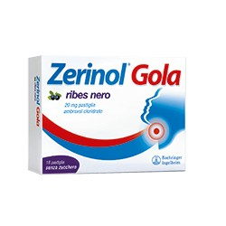 Sanofi Zerinol Gola Ribes Nero 18 Pastiglie 20 mg