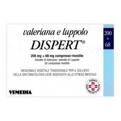 Vemedia Valeriana e Luppolo Dispert 20 Compresse Rivestite 200 mg + 68 mg