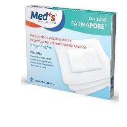 Meds Pore Medicazione Adesiva 10x9 Cm 5 Pezzi