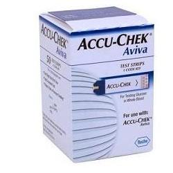 Roche Strisce Misurazione Glicemia Accu-Chek Aviva Brk Retail 50 Pezzi