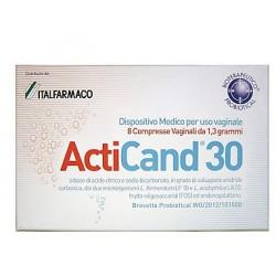 Probiotical Acticand 30 8 Compresse Vaginali per Candida