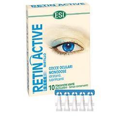 Esi Retin Active Mirtillo Gocce Oculari 10 Flaconcini Monodose Da 0,5 Ml