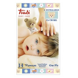 TRUDI BABY CARE PANNOLINO DRY FIT XL 15/30 KG 14 PEZZI