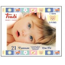 Silc Trudi Baby Care Pannolini Dry Fit Mini 3/6 Kg 21 Pezzi