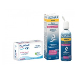 Euritalia Pharma Isomar Soluzione Acqua Mare Naso Ipertonica Naso Spray Decongestionante Acido Ialuronico + Occhi