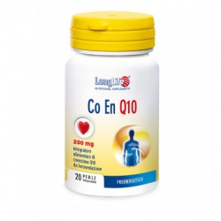 Longlife Co En Q10 200 mg 20 Perle Integratore Antiossidante