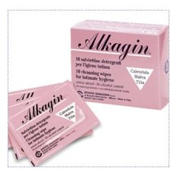 Istituto Ganassini Alkagin Salviette Detergenti per Igiene Intima Monouso 10 Pezzi