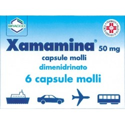 Dompé Xamamina Antinausea 6 Capsule Molli 50 mg