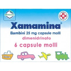 Dompé Xamamina Bambini 6 Capsule Molli 25 mg