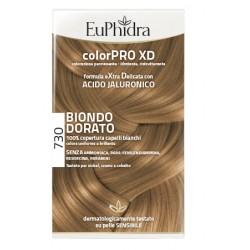 Euphidra Colorpro Xd 730 Biondo Dorato Gel Colorante Capelli In Flacone + Attivante + Balsamo + Guanti