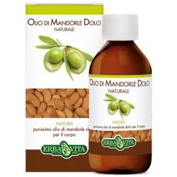 Erba Vita Olio di Mandorle Dolci Naturale 250 ml Idratante Corpo