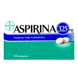 Bayer Aspirina 325 mg Analgesico 10 Compresse