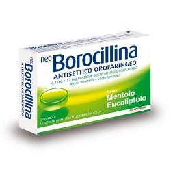 Alfasigma Neoborocillina Antisettico Orofaringeo 20 Pastiglie Mentolo Eucaliptolo