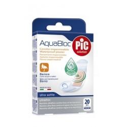 Cerotto Pic Aquabloc 19x72mm Antibatterico 20 Pezzi
