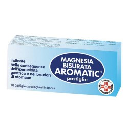 Pfizer Magnesia Bisurata Aromatic Antiacido 40 Pastiglie