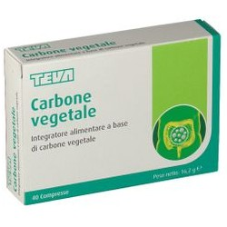 Teva Carbone Vegetale 40 Compresse per Gonfiore Addominale