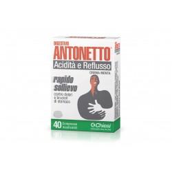 Digestivo Antonetto Acidita' E Reflusso Crema Alla Menta 40 Compresse Masticabili