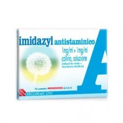 Recordati Imidazyl Antistaminico 10 Monodose Collirio 0,5 Ml 1 Mg/ml + 1 Mg/ml