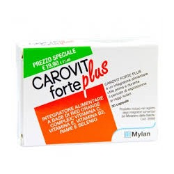 Mylan Carovit Forte Plus 30 capsule integratore per l'abbronzatura
