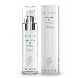 Collagenil Active Mat Daily Cream Seboregolatrice/purificante Per La Pelle Del Viso Flacone 50 Ml
