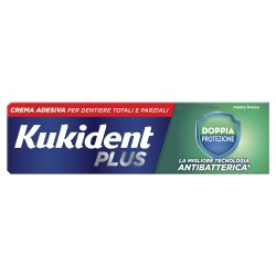 Kukident Plus Doppia Protezione crema adesiva per protesi dentarie 40 g