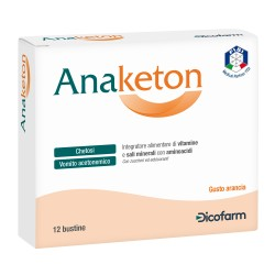 Dicofarm Anaketon integratore per acetone e vomito 12 bustine