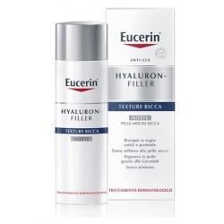 Eucerin Hyaluron-Filler Notte per Pelle Secca 50 ml