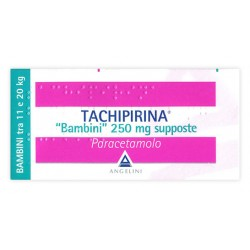 Angelini Tachipirina Antipiretico Bambini 10 Supposte 250 mg