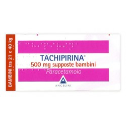 Angelini Tachipirina Antipiretico Bambini 10 Supposte 500 mg