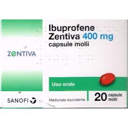 IBUPROFENE (ZENTIVA)*20 cps 400 mg