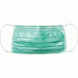 Farmac-Zabban Mascherina tessuto non tessuto verde con elastico 50 pezzi