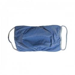 Mascherina protettiva adulti lavabile colore jeans 3 pezzi