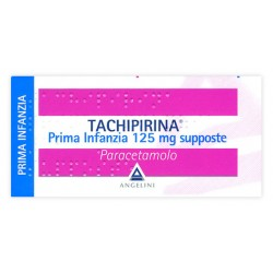 Angelini Tachipirina Antipiretico Prima Infanzia 10 Supposte 125 mg