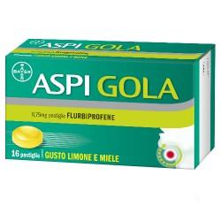 Bayer Aspigola limone e miele farmaco per mal di gola 16 pastiglie