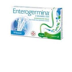 Sanofi Enterogermina 10 Flaconcini Alterazione Flora Batterica 2 miliardi/5 ml