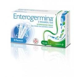 Sanofi Enterogermina 20 Flaconcini Alterazione Flora Batterica 2 miliardi/5 ml